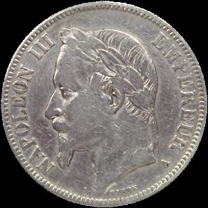 Ecu-5-Francs-Napoleon-Argent-Pieces-Francaises-RECTO