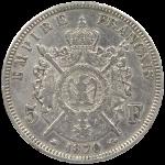 Ecu-5-Francs-Napoleon-Argent-Pieces-Francaises-VERSO