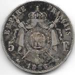 5 FRANCS NAPOLEON III EMPEREUR 1856 D