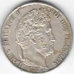 5 FRANCS LOUIS PHILIPPE I ROI DES FRANCAIS 1847 BB