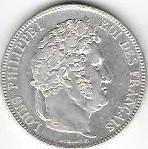 5 FRANCS LOUIS PHILIPPE I ROI DES FRANCAIS 1841 BB