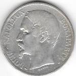 5 FRANCS LOUIS NAPOLEON BONAPARTE 1852 A