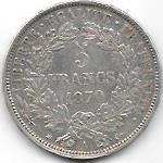 5 FRANCS TYPE CERES AVEC LEGENDE 1870 A